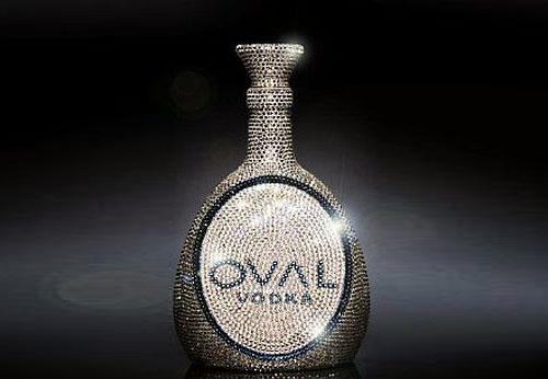 Oval Vodka Swarovski Crystal