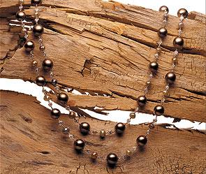 Дерево и уголь в ювелирной моде