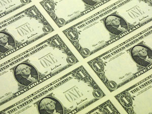 Листы долларов