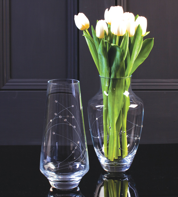 Royal scot Crystal - Diamante Vases